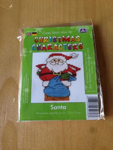 Santa Christmas Character DMC Mini Kit